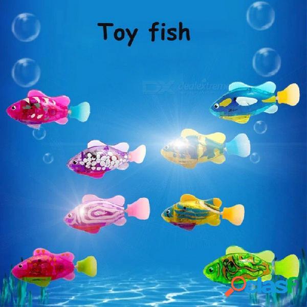 Juguete eléctrico ligero de la pesca de los pescados, luz con pilas hasta el juguete de balanceo luminoso del tamagotchi para los niños (color al azar) color al azar