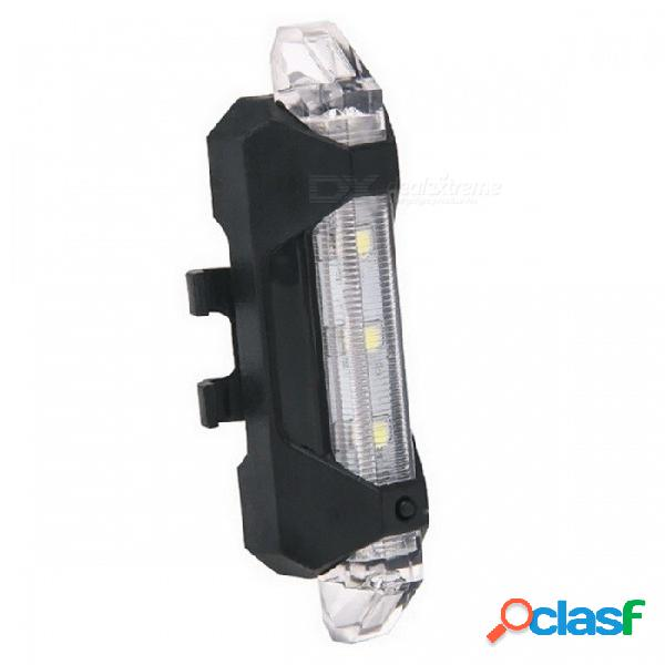 Portátil usb recargable bicicleta bicicleta luz trasera trasera luz de advertencia de seguridad luz trasera lámpara súper brillante