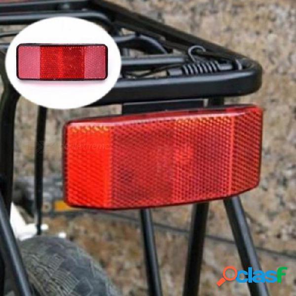 Reflectante bicicleta de montaña mtb portabicicletas cola seguridad precaución advertencia reflector disco bicicleta bici trasera panier luz de la luz