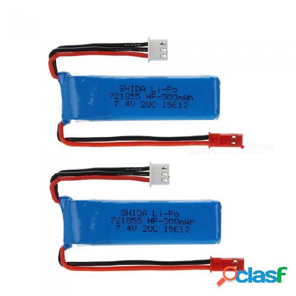 2 pcs 7.4v 500mah 721855lithium polímero de alta potencia li-po baterías para syma x8c x8w rc quadcopter