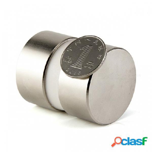 2 unids mini súper fuerte y poderoso dia 40mm x 20mm imanes de neodimio, 40x20 tierras raras ndfeb n52 imanes de disco de plata