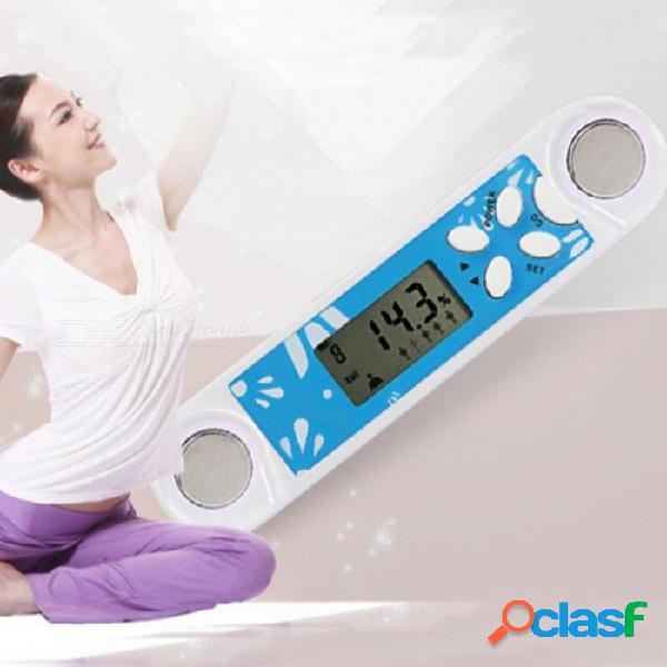 Analizador de instrumentos de medición de la condición física del cuerpo adiposo, medidor de calorías portátil delgado led calculadora digital led azul + blanco