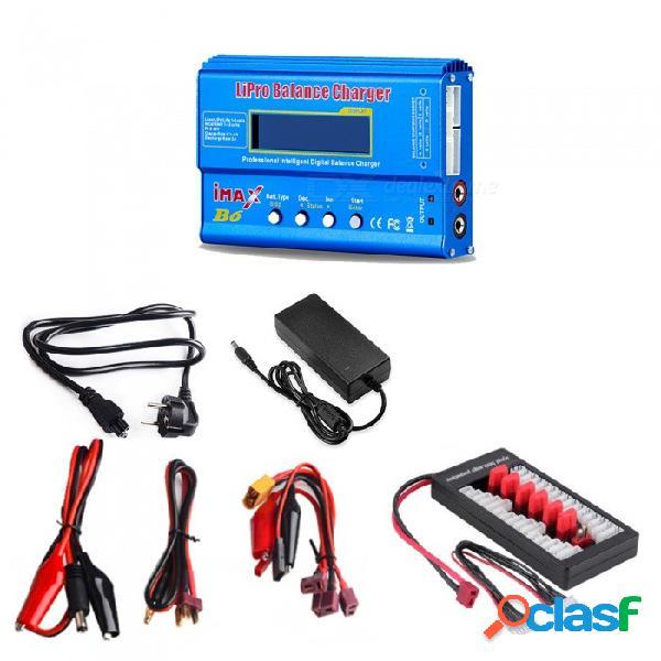 Imax b6 cargador de balance de batería li-po digital + 12v 6a adaptador de corriente + enchufe de la ue cable de alimentación + t placa de enchufe
