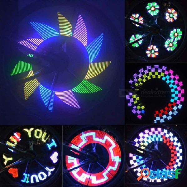 La luz de los radios de la rueda de la bicicleta de la bicicleta de 32-led diy, luces de ciclismo led de luces led para la noche de conducción en blanco