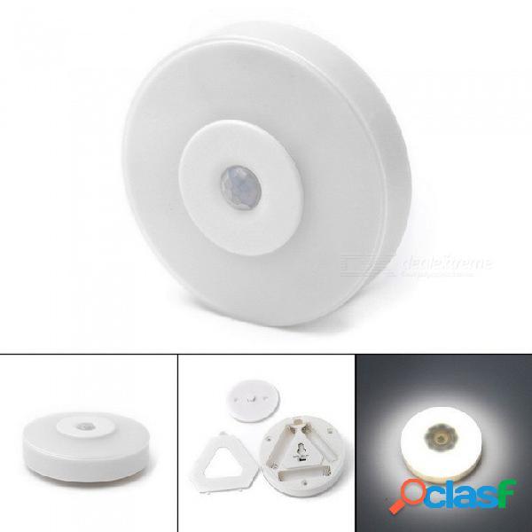 Sensor de movimiento led luz nocturna infrarrojo sensor deportivo lámpara de emergencia cuerpo movimiento sensor gabinete luces blanco / blanco