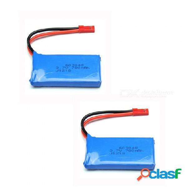 2 pcs 3.7v 780mah 603048 baterías de lipo de alta potencia de polímero de litio para syma x8c x8w rc quadcopter - azul