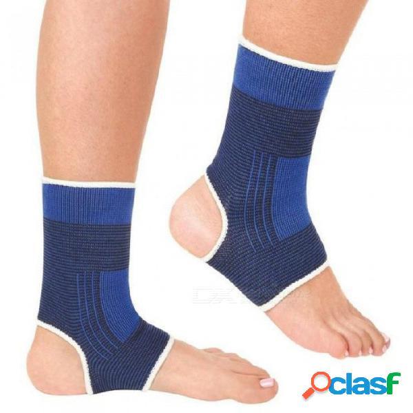 2 unids / set tobillo pie deporte elástico envoltura de compresión manga vendaje ortopédico protección apoyo footf tobillo soporte llaves