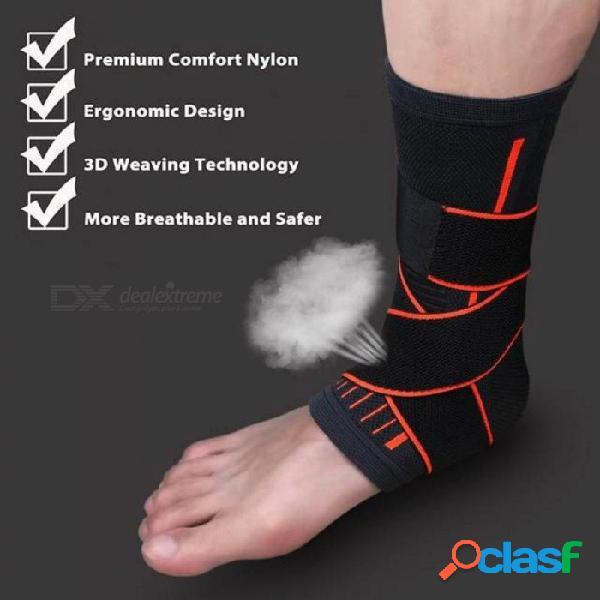 Deportes tobillo manga protectora abrazadera soporte de compresión mangas fascitis plantar calcetines de pie tobillo apoya negro