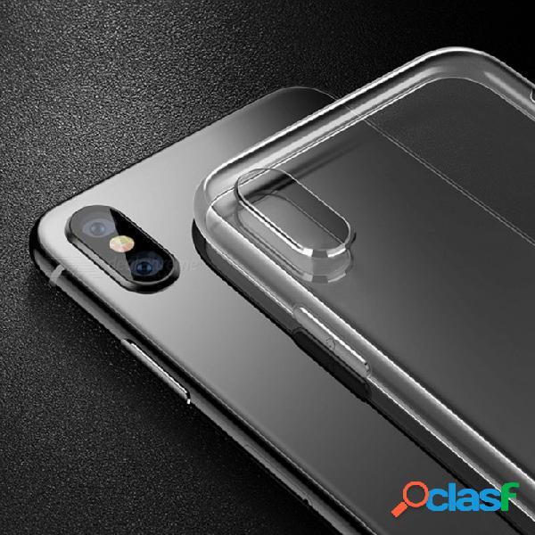 Funda protectora ultrafina de cafele para iphone x 7 plus 8 plus funda de teléfono móvil a prueba de golpes negro / iphone x