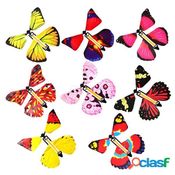 Magia volando mariposa transformación de la mano accesorios mágicos sorpresa sorpresa broma broma mística truco juguetes color aleatorio