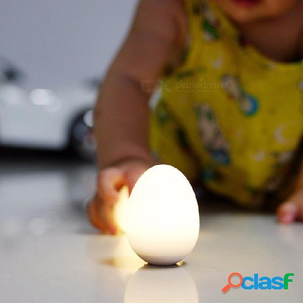 Usb cargable colorido led huevo noche luz vibración sensor táctil niño juguete navidad regalo de cumpleaños changeablewhite