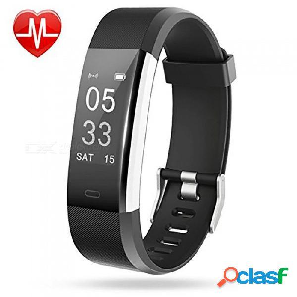 Id115 desordenada, más pulsera inteligente con monitor de frecuencia cardíaca, rastreador de actividad, rastreador de gps, contador de pasos, monitor de sueño