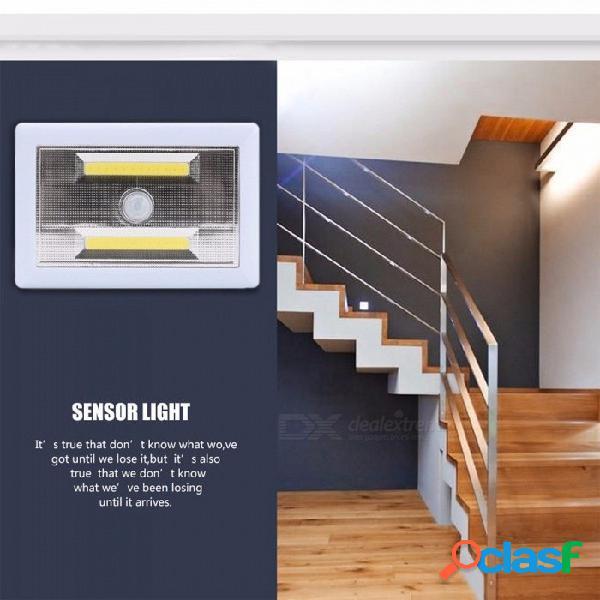 Iluminación interior cob led pir sensor de movimiento luz nocturna pared magnética luz de garaje lámpara de emergencia blanca / blanca