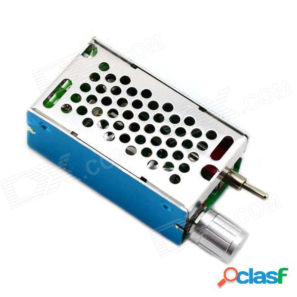 Interruptor de inversión del motor de la cc de jtron pwm / interruptor de control de velocidad del motor del pulso - azul + plata (12 ~ 40v)