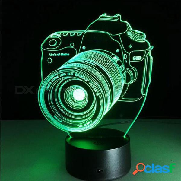 Lámpara de acrílico de la hospitalidad 3d de la ilusión lámpara de rgb led luz de tabla del usb, luz de la noche