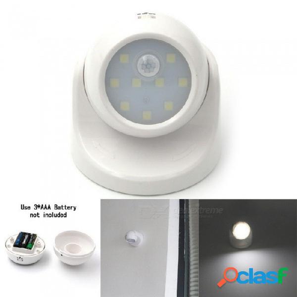 Mini led sensor de movimiento luz nocturna infrarrojo sensor deportivo lámpara cuerpo movimiento gabinete junto a la cama luces del pasillo blanco / blanco