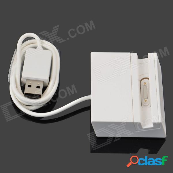 Portátil de teléfono celular de datos usb / muelle de carga con cable para sony xperia z ultra xl39h - blanco