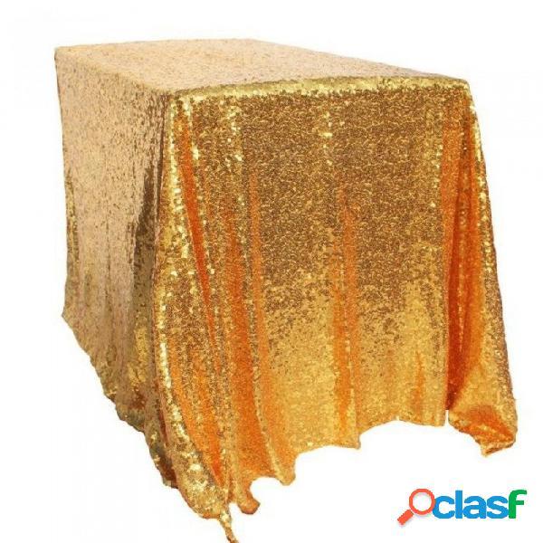 100x150 cm oro lentejuela mantel estilo rectángulo para la boda / fiesta / banquete boda mesa de tela decoración de oro