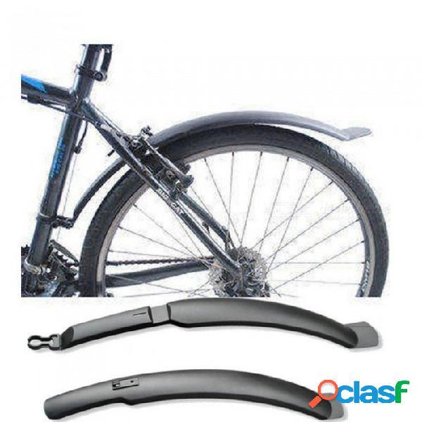 Alas de la bicicleta mtb bicicleta de montaña delantera de la bicicleta guardabarros trasero juego de guardabarros carretera delantera de bicicleta bastidores guardabarros guardabarros azul