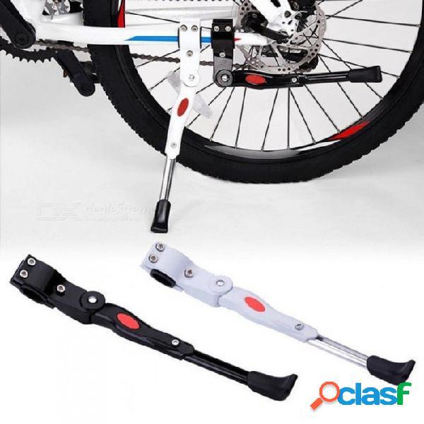 Aparcabicis bicicleta soporte de bicicleta bicicleta de montaña ajustable apoyo lateral patada trasera soporte bicicleta accesorios blanco