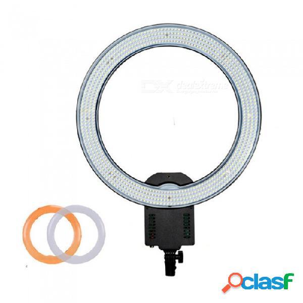 Esamact cn-r640 estudio de fotografía de video 640-led atenuación continua luz macro anillo continuo 5600k iluminación día luz de video led