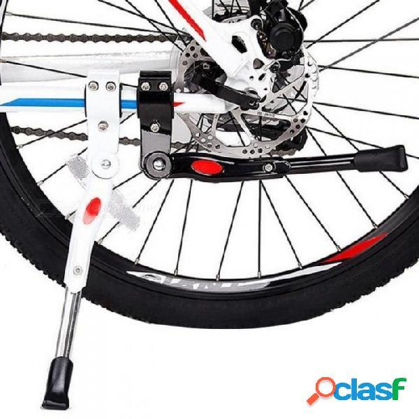 Estante de estacionamiento de bicicletas de alta resistencia ajustable bicicleta de montaña ciclo de la bicicleta apoyo lado retroceso soporte bicicleta accesorios blanco