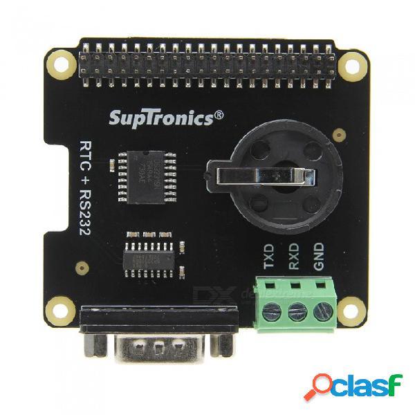 Geekworm frambuesa pi x230 puerto seria rs232 & tarjeta de expansión de reloj en tiempo real (rtc) para frambuesa