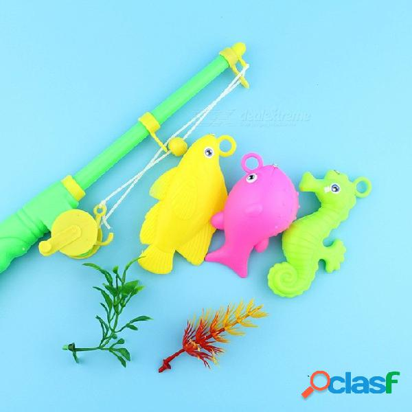 Juguetes magnéticos de pesca para niños, juguetes acuáticos, simulación, cañas de pescar, niños de juguete, multicolor