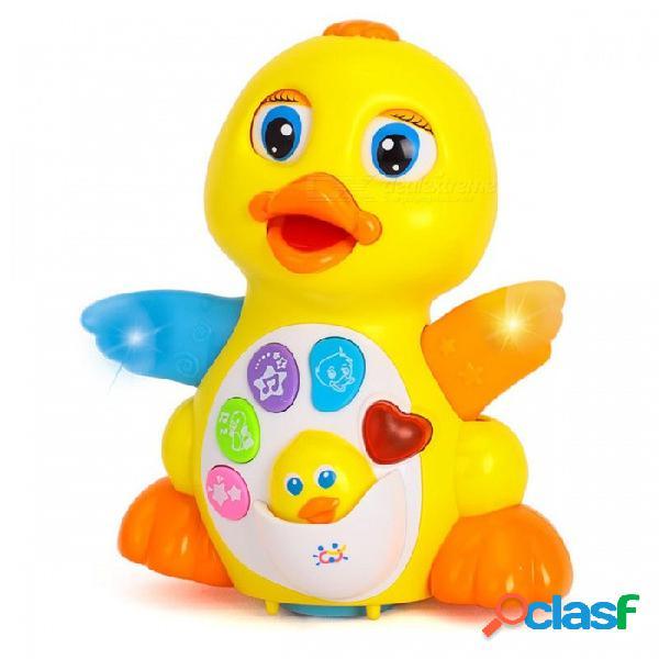 Regalo de juguete de estilo de dibujos animados lindo aleteo electrónico para niños niños - amarillo
