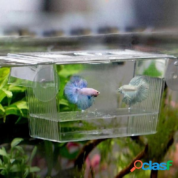 Acrílico acuario reproductor reproductor reproductor caja de aislamiento acuario incubador incubar plántulas reproducción titular s / transparente