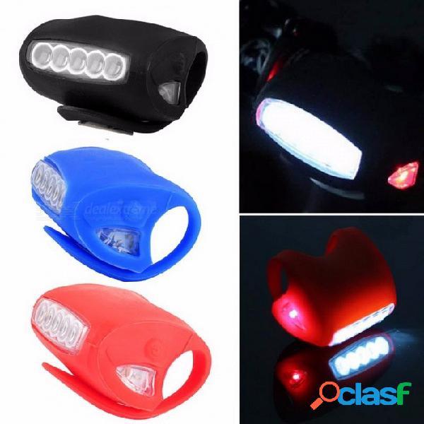 Bicicleta luz delantera rana luz silicona cabeza delantera led bicicleta luz trasera ciclismo alimentado por batería accesorios para bicicletas