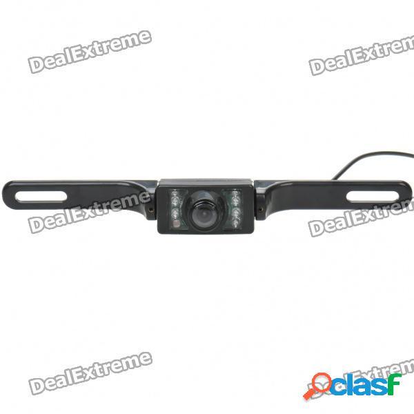 """E322 1/4 """"cmos con cable y cámara de visión trasera para coche a prueba de agua con visión nocturna de 7-ir led (ntsc / dc 12v)"""