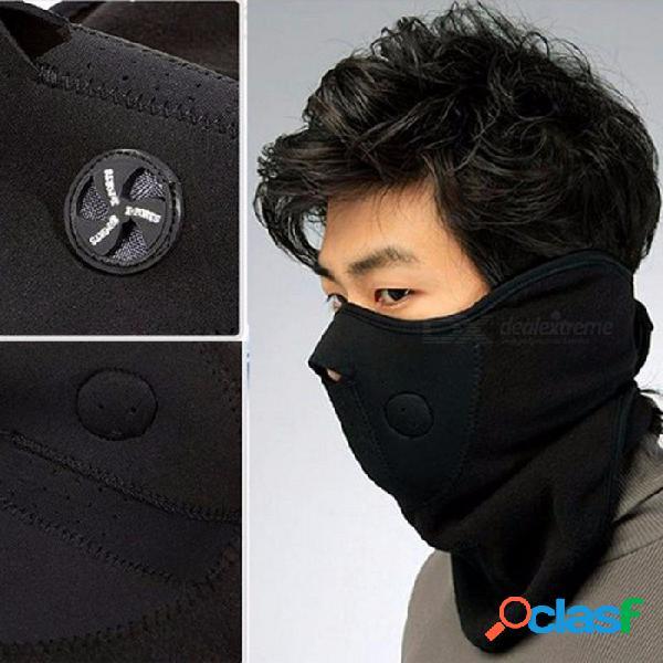 Máscara de deporte al aire libre máscara de esquí de invierno media cara caliente para ciclismo paseo bicicleta deporte al aire libre máscara a prueba de viento