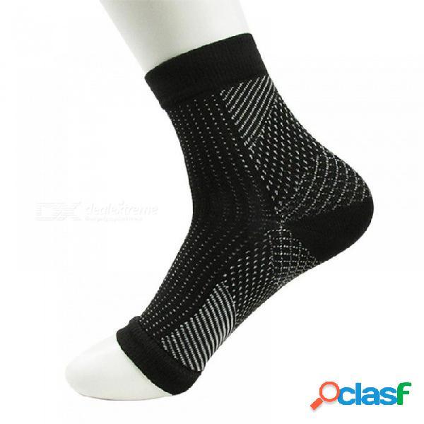 Pie anti fatiga mujeres calcetines de compresión manga elástica calcetines de los hombres las mujeres alivian hincharse tobillo sokken