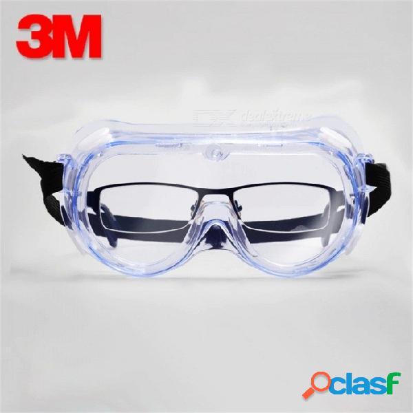 3m 1621 anti-impacto contra salpicaduras químicas gafas de seguridad, lentes de laboratorio de protección de los ojos lentes de economía clara transparente gafas