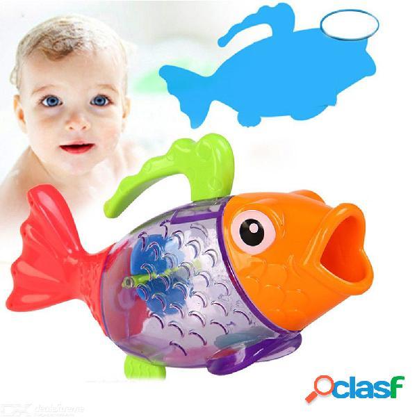 Bebé baño juguetes niños baño y arena playa ducha colorido pescado aspersor baño agua pulverización herramienta