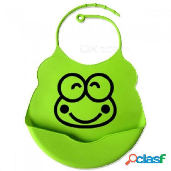 Nuevo diseño baberos para bebés de silicona resistente al agua alimentación saliva toalla recién nacido de dibujos animados delantales impermeables baberos para bebés