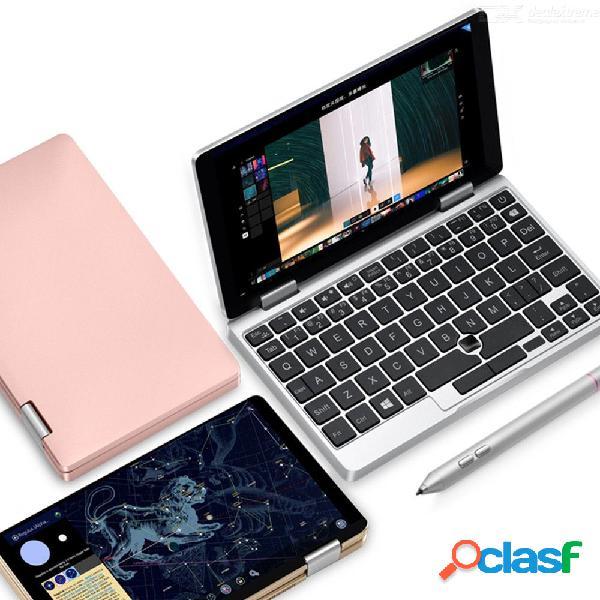 Una netbook una mix2 computadoras portátiles de bolsillo 7 pulgadas ips con pantalla táctil windows 10 8gb ddr3 / ssd de 256 gb