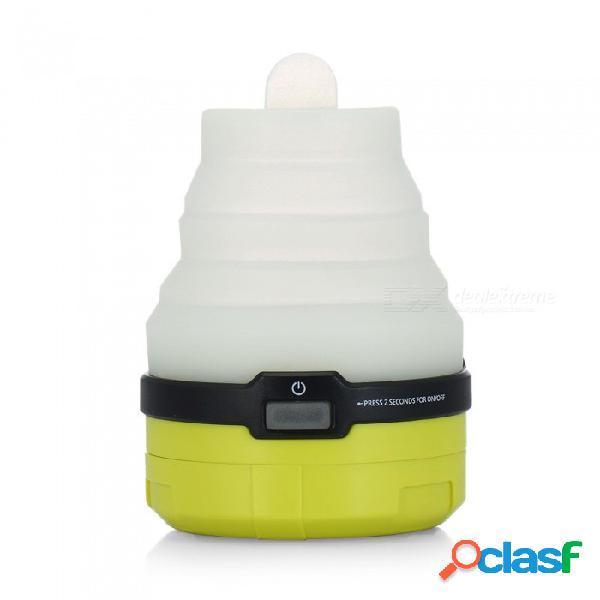 Ctsmart dt-7212 silicona de camping al aire libre plegable carga usb replegable led colorida tienda de luz - amarillo