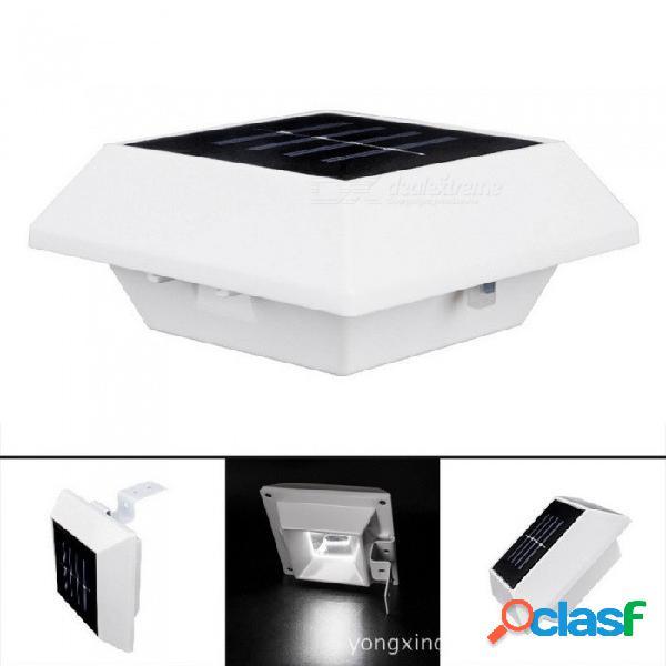 Lámpara de pared accionada solar, luz del sensor del pórtico del césped del jardín para la iluminación al aire libre blanco / 0-5w / white
