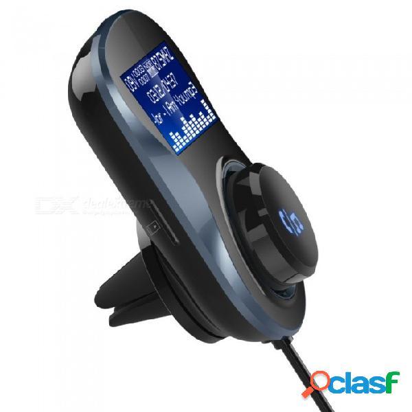 Bluetooth transmisor de audio, reproductor de audio para automóvil, reproductor de mp3 inalámbrico, en el automóvil, modulador de fm, manos libres, kit de automóvil bluetooth con pantalla lcd