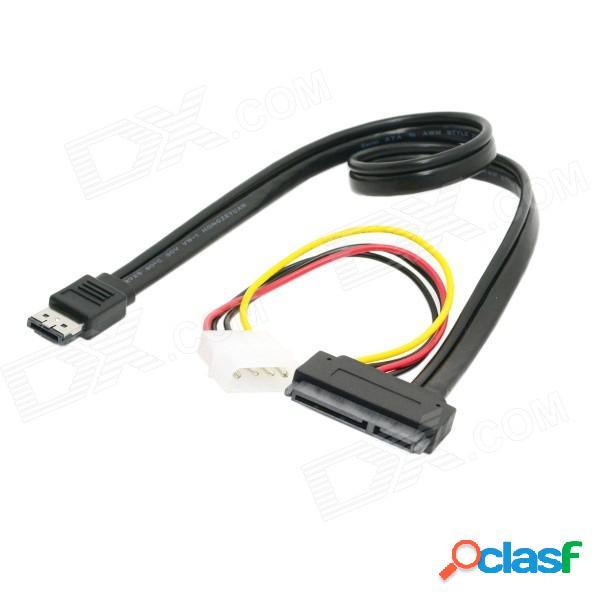 """Cy sa-087-0.5m esata combo a sata 22-pin & ide 4-pin cable de datos para 3.5""""2.5"""" disco duro - negro"""