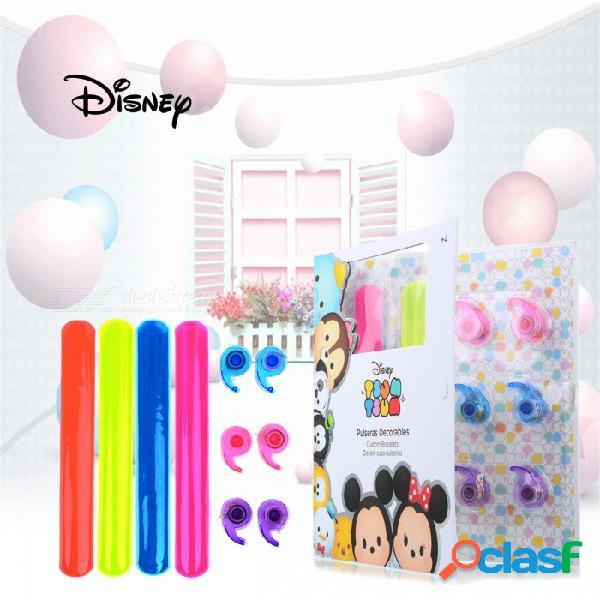 Dibujos animados de disney tsum tsum niños coloridas pulseras de bricolaje, pulsera de moda con cintas de juguete para niños multicolor