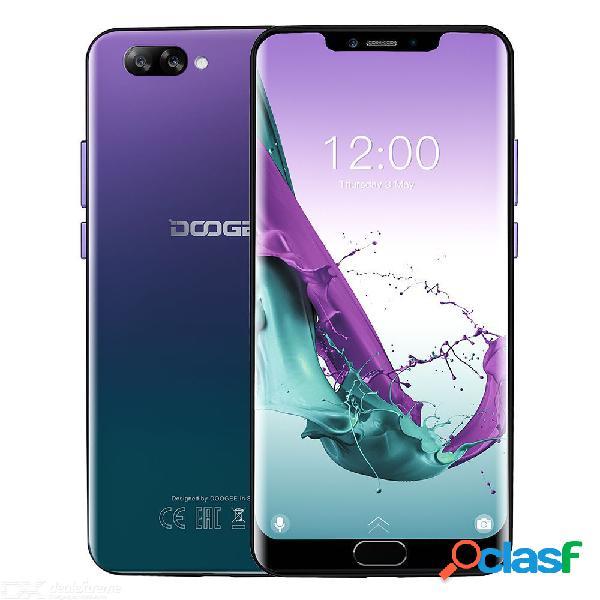 Doogee y7 más octa core 6gb 64gb mt6757 android 8.1 sim dual de 6.2 pulgadas con teléfono inteligente con batería de 5080 mah