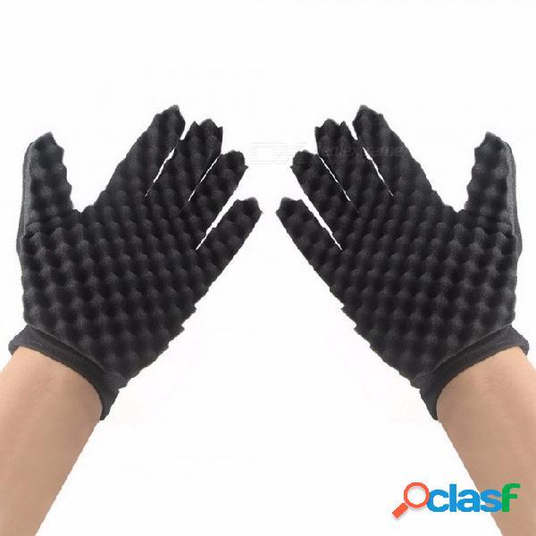 Lavado de casa guantes rizados para la mano derecha izquierda jardín cocina plato esponja dedos goma limpieza del hogar