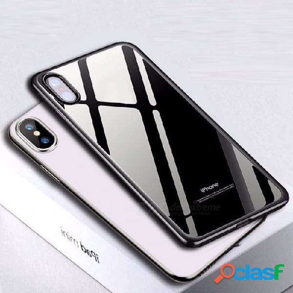 Cubierta clara suave antiarañazos del teléfono de la cubierta completa ultravioleta de usams, contraportada para iphone x claro / tpu