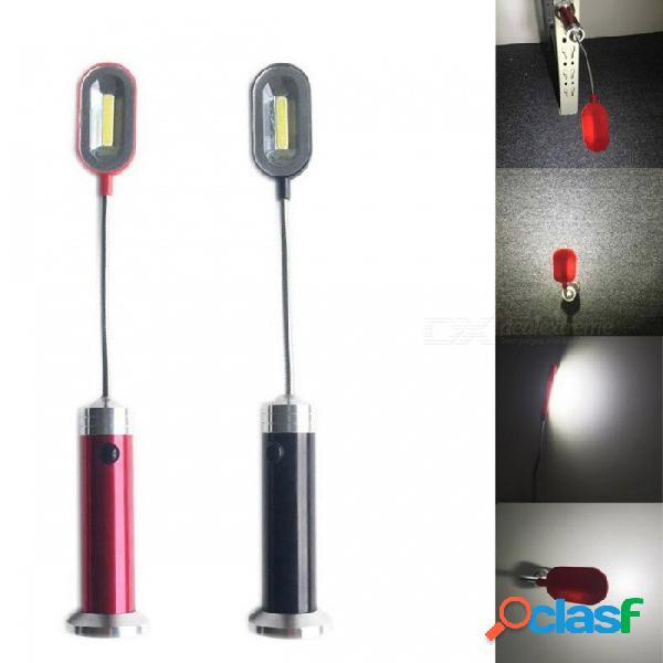Flexible ultra brillante mini led luz de trabajo cob magnética 360 grados rotación lámpara de mesa antorcha linterna impermeable 3w / rojo