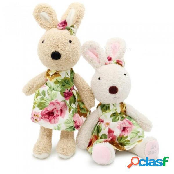 30 cm kawaii juguetes de peluche de conejo muñecas de peluche de conejito niños juguetes regalos ropa se puede quitar preciosos regalos camisa marrón / 30 cm