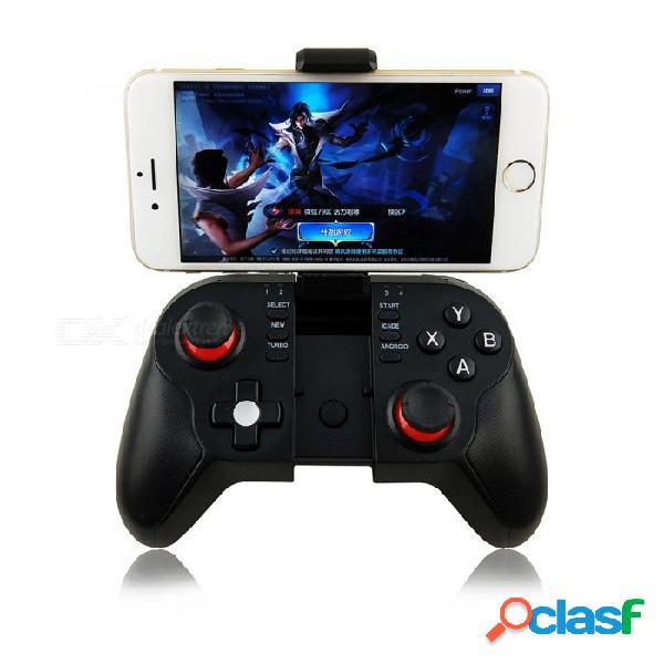 Controlador de joystick inalámbrico para gamepad bluetooth kitbon t9 con soporte para teléfono, teclado, caja inteligente, tv inteligente, pc