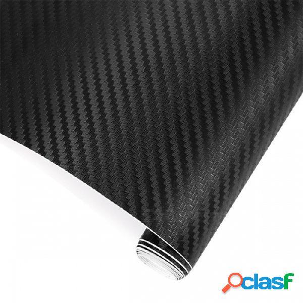 Película de vinilo de fibra de carbono de película de vinilo de fibra de carbono 3d de 200 cm x 30 cm etiqueta engomada de estilo de automóvil